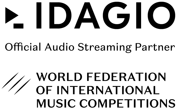 Logo IDAGIO and World Federation of International Music Competitions